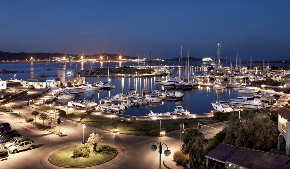 The Olbia Port at night